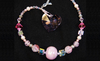 breastcancer necklace